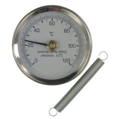 Bimetalový teploměr příložný DN 63, 0 - 120 °C
