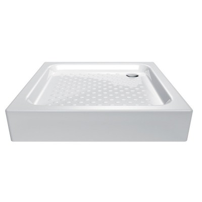 Čtvercová sprchová vanička, 80x80x17,5 cm, akrylátová