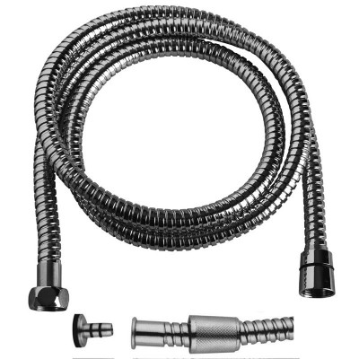 Sprchová hadice dvouzámková 150 cm, systém zabraňující překroucení, nerez