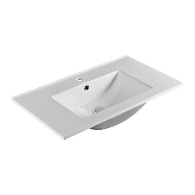 Nábytkové umyvadlo SLIM, 81x46x18 cm, keramické, bílé