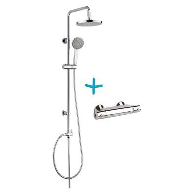 Sprchový set: termostatická baterie + sprch. souprava...