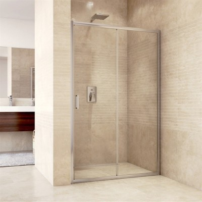 Sprchové dveře zasunovací, Mistica, 120x190 cm, chrom ALU, sklo Čiré