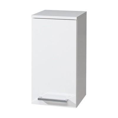 Koupelnová skříňka závěsná, horní, pravá, bílá/bílá