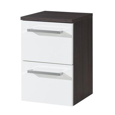 Koupelnová skříňka, spodní, bílá/schoko