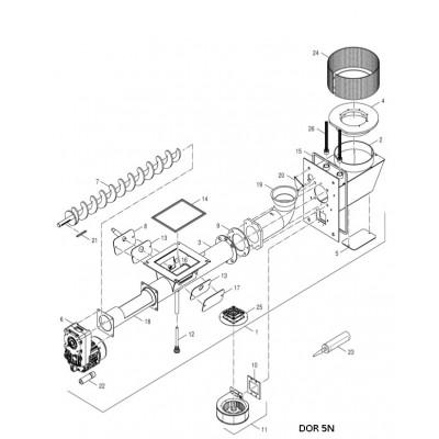 Těsnění ventilátoru DAKON DOR N AUTOMAT , DOR 5N AUTOMAT