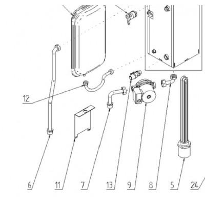 Trubka expanzní nádoby DAKON DALINE PTE 4-18