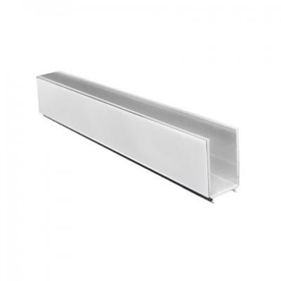 Lišta fixační a vymezovací pro sprochové kouty a dveře, chrom ALU, výška 1900 mm