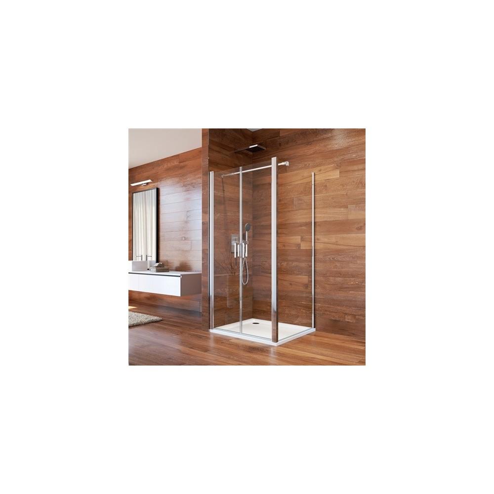 Sprchový kout, Lima, čtverec, 100 cm, chrom ALU, sklo Čiré, dveře lítací