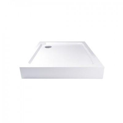Čtvercová sprchová vanička, 80x80x14 cm, SMC, bílá,...