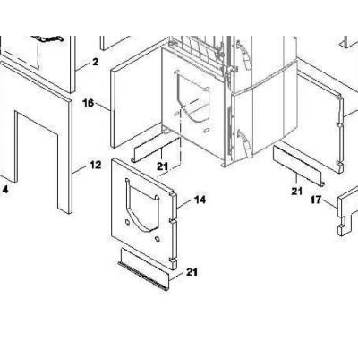 Izolace vnitřní bok box výř. 4čl. FB2 AUTOMAT