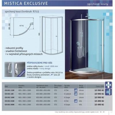 Sprchový kout Mistica čtvrtkruh R 715
