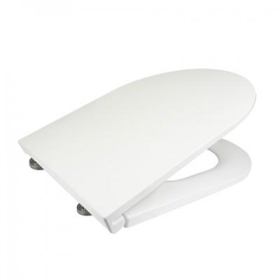 Samozavírací WC sedátko slim, duroplast, bílé, s...