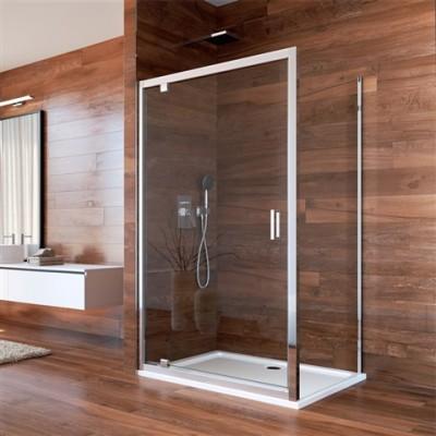Sprchový kout, Lima, obdélník, 100x80 cm, chrom ALU, sklo...