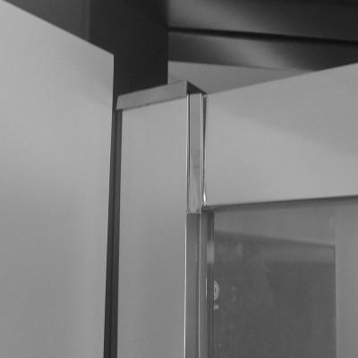 Sprchový kout, Lima,  100x100x100x190 cm, chrom ALU, sklo Čiré