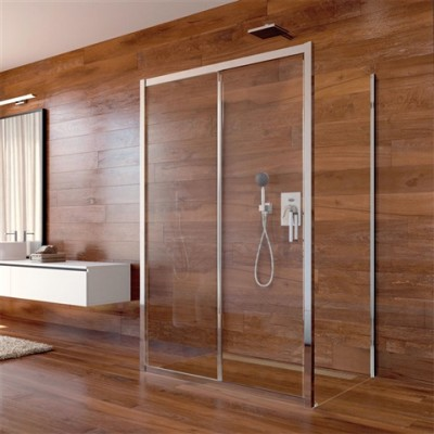 Sprchový kout, Lima, obdélník, 100x110x100x190 cm, chrom...