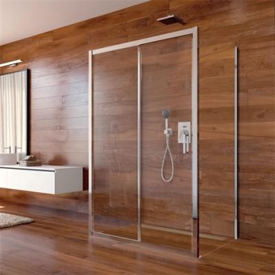 Sprchový kout, Lima, obdélník, 80x100x80x190 cm, chrom...