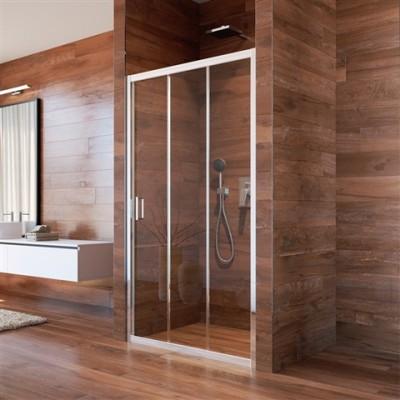 Sprchové dveře, LIMA, trojdílné, zasunovací, 90 cm, chrom...