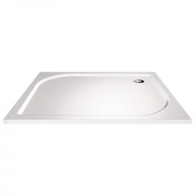 Obdélníková sprchová vanička, 90x80x3 cm, bez nožiček,...