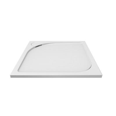 Čtvercová sprchová vanička s oblým krytem sifonu, 80x80x3...