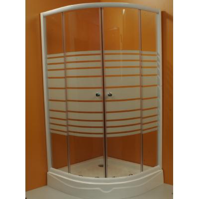 Sprchový kout Mistica 90/90  bílý / sklo strip R550