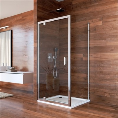 Sprchový kout, Lima, čtverec, 90 cm, chrom ALU, dveře...