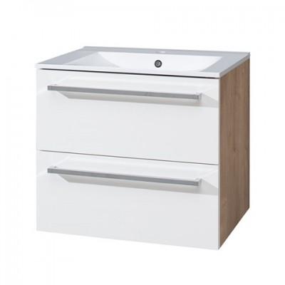 Koupelnová skříňka s keramickým umyvadlem 60 cm, spodní,...