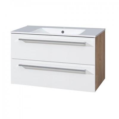 Koupelnová skříňka s keramickým umyvadlem 100cm,...