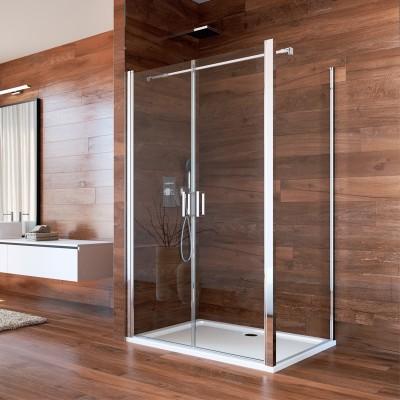 Sprchový kout, Lima, obdélník, 90x100x190 cm, chrom ALU,...