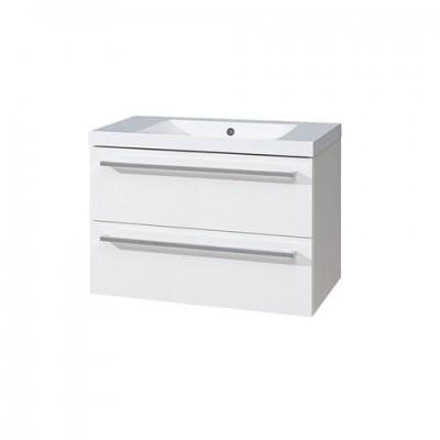 Koupelnová skříňka s umyvadlem z litého mramoru 80 cm,...