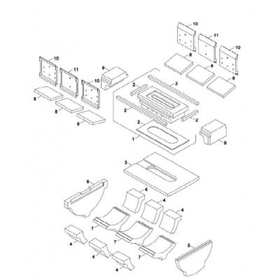 Cihla přikládací komory 22-30 kW