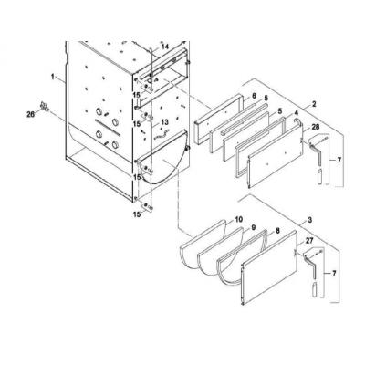 Těsnící šnůra přikládacích dveří a odk.kanálu 22-30 kW