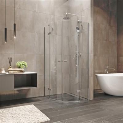 Novea sprchový kout, R 550, 90x90x200 cm, pantový, chrom...