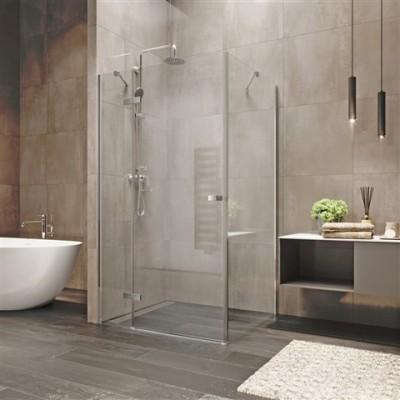 Sprchový kout, Novea, obdélník, 90x80 cm, chrom ALU, sklo...