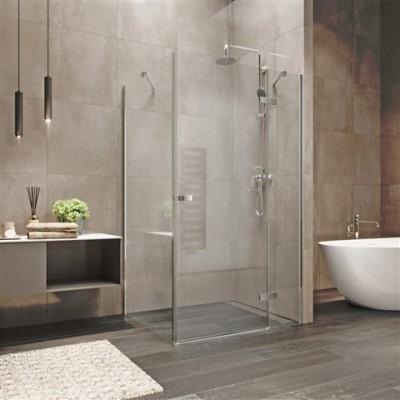 Sprchový kout, Novea, obdélník, 80x90 cm, chrom ALU, sklo...