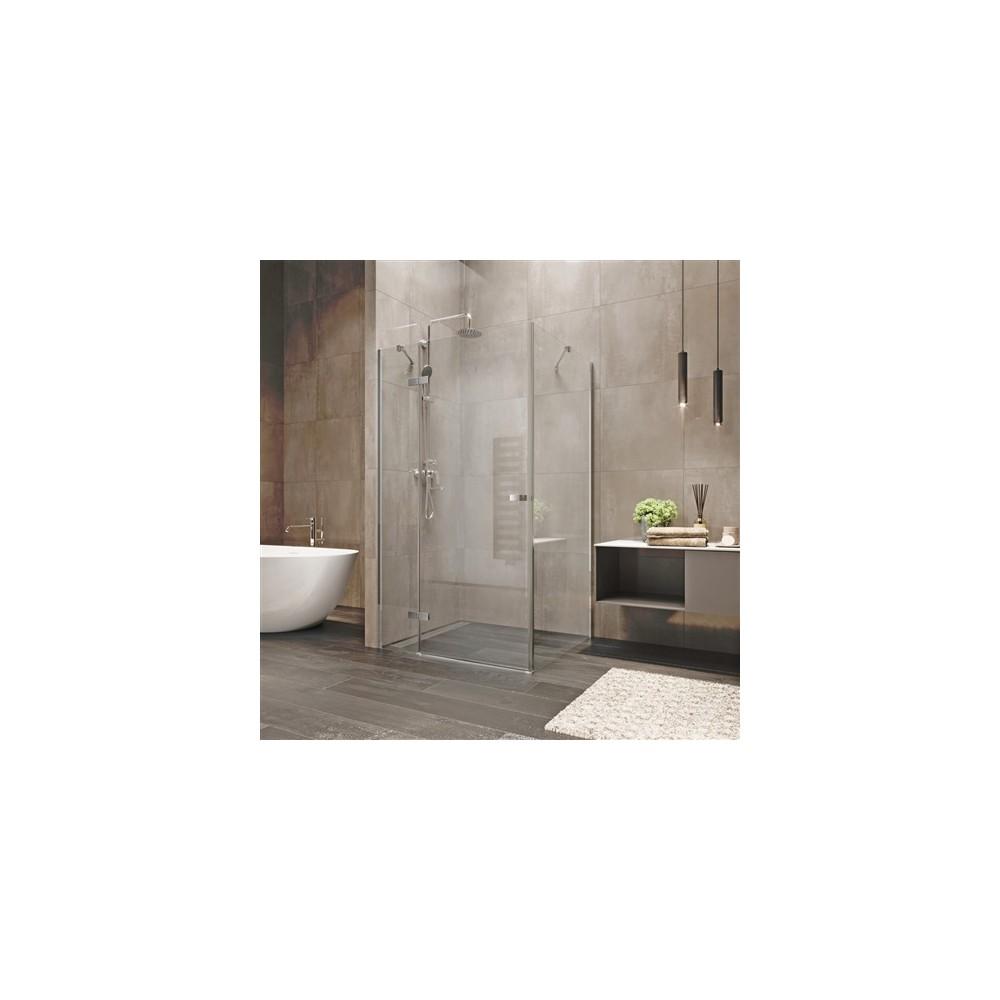 Sprchový kout, Novea, obdélník, 120x100 cm, chrom ALU, sklo Čiré, dveře levé a pevný díl