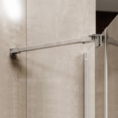Sprchový kout, Novea, obdélník, 120x90 cm, chrom ALU, sklo Čiré, dveře pravé a pevný díl