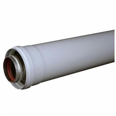 """Prodloužení 1000 mm, průměr 60/100 mm, pro kotel """"turbo"""""""