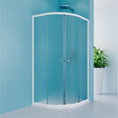 Sprchový kout, Kora Lite, čtvrtkruh, 90 cm, R550, bílý...