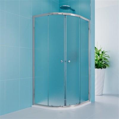 Sprchový set z Kory Lite, čtvrtkruh, 90 cm, chrom ALU,...