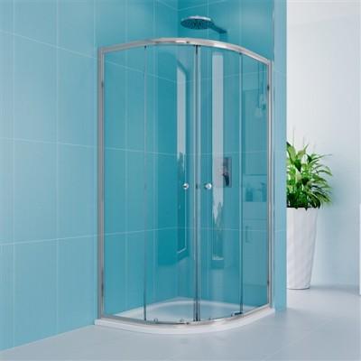 Sprchový set: kout 80x80x185cm, chrom ALU, sklo čiré, SMC...