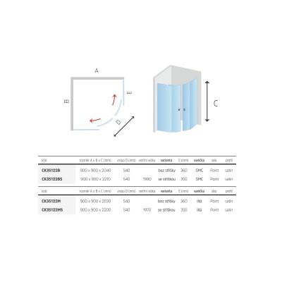 Sprchový box, čtvrtkruh,100 cm, satin ALU, sklo Point, zadní stěny bílé, litá vanička, se stříškou