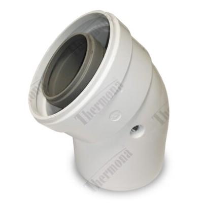 Koleno 45°, průměr 60/100 mm, kondenzační kotle