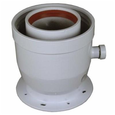 Příruba redukční z 60/100 mm na 80/125 mm, odvod...