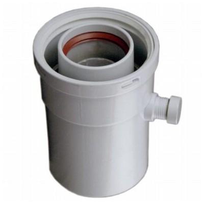 Vsuvka pro odvod kondenzátu, vertikální, průměr 80/125...