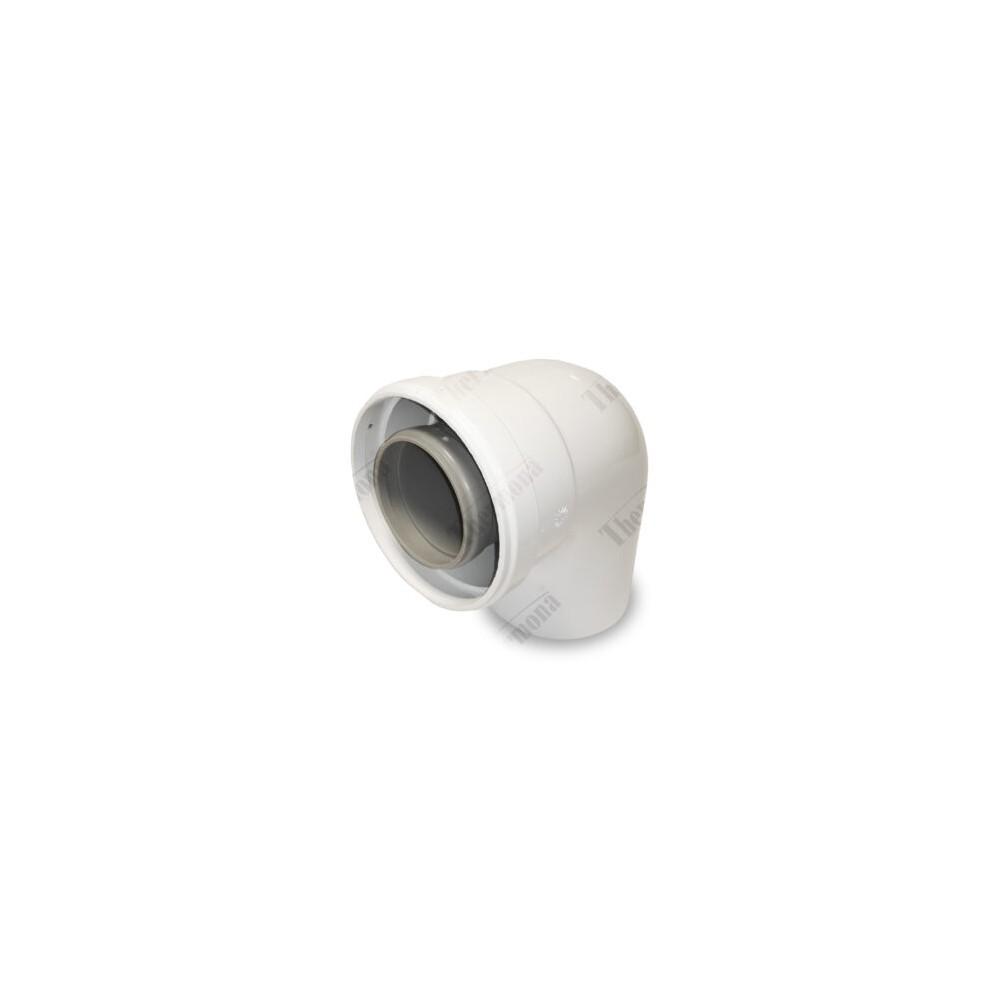 Koleno 90°, průměr 60/100 mm, kondenzační kotle