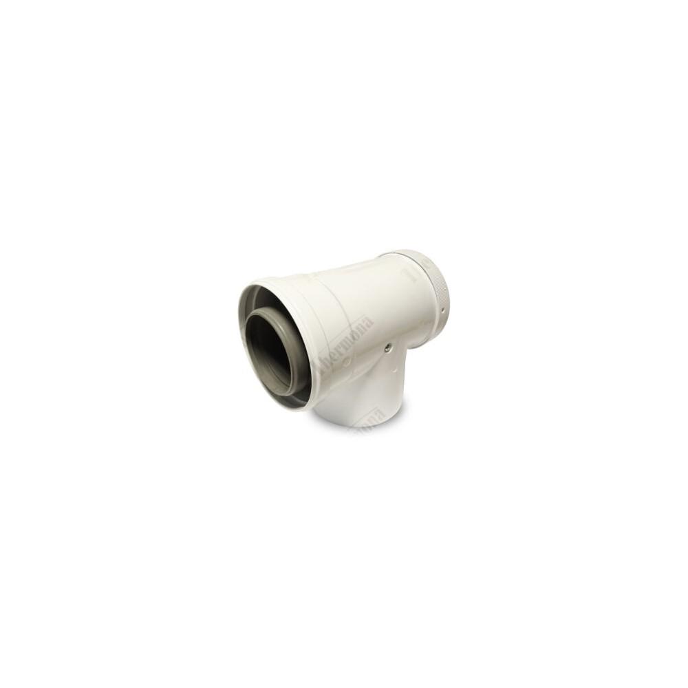 Koleno 90° s kontrolním otvorem, průměr 80/125 mm, kondenzační kotle