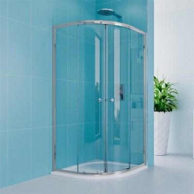 Sprchový kout, Kora Lite, čtvrtkruh, 80 cm, R550, chrom...