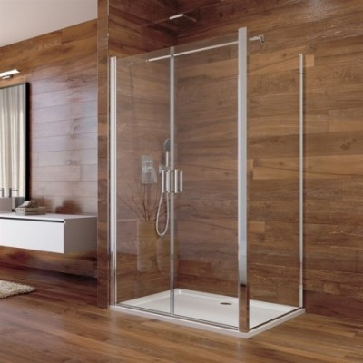 Sprchový kout, Lima, obdélník, 100x120x190 cm, chrom ALU,...