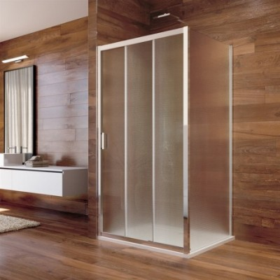 Sprchový kout, LIMA, obdélník, 100x80x190 cm, chrom ALU,...