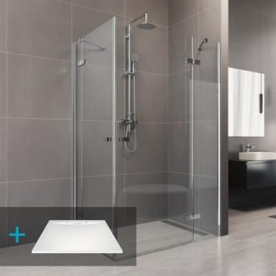Sprchový set: Novea, obdélník, 120x80 cm, chrom ALU, sklo...